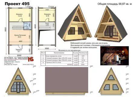 дом шалаш проекты размеры и фото
