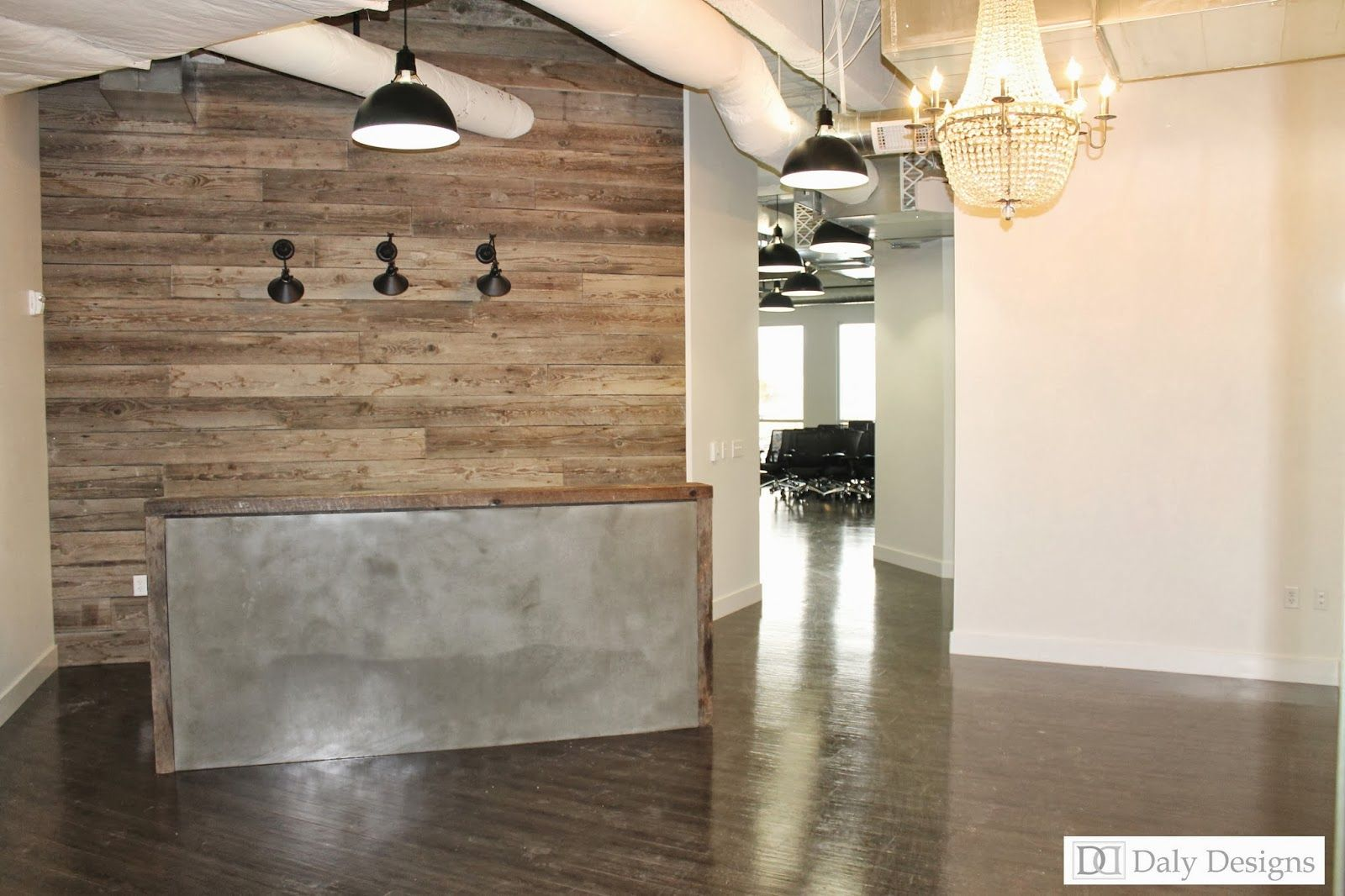 Rustic Modern Office Modern Office Reception Design Daly Designs Jane Office