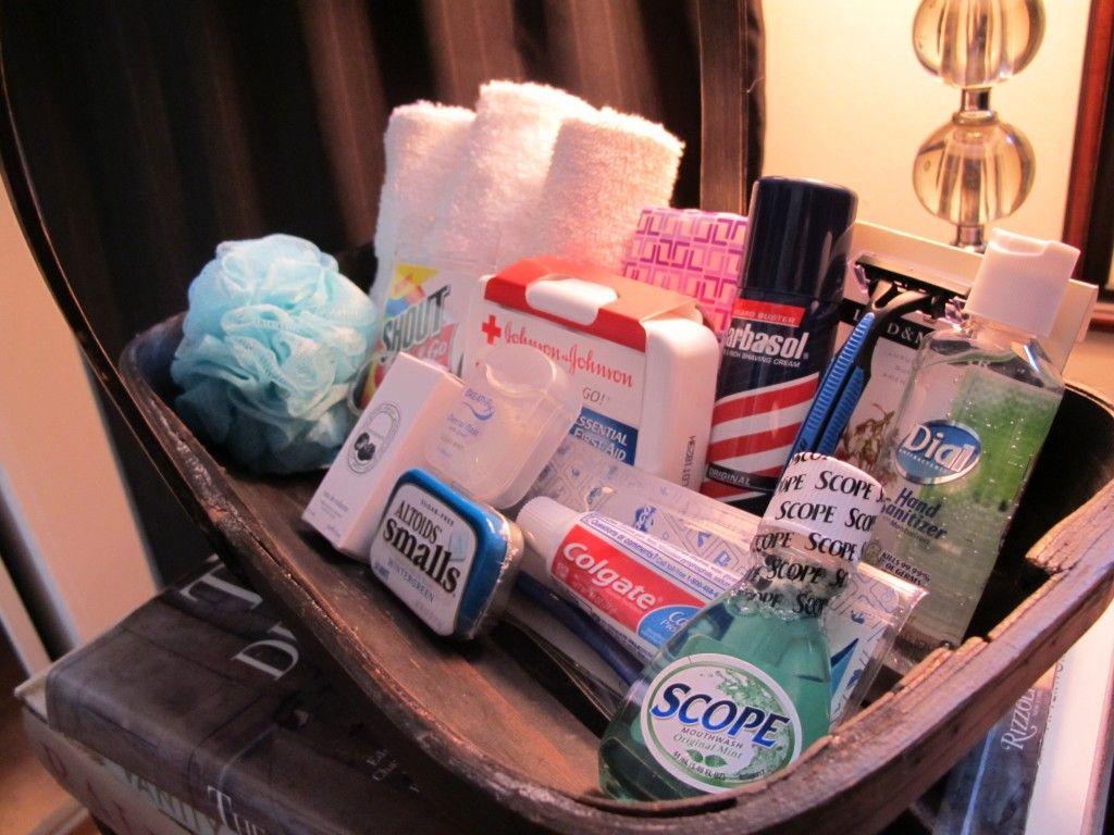 Extra Toiletries Basket In Guest Bathroom 45 Ideas For The Ultimate Guest Room Guest Basket Guest Room Baskets Guest Bathroom
