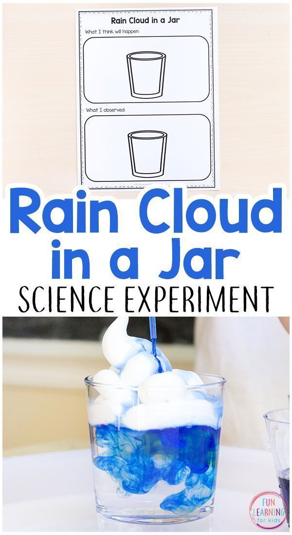 Rain Cloud in a Jar Science Experiment with Printable Recording Sheets #stemactivitieselementary