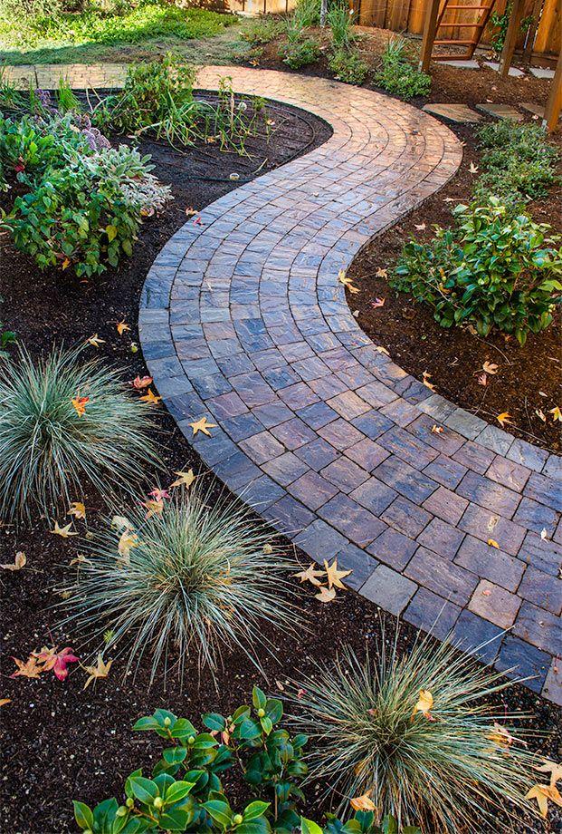 Brick Paver Pathway Backyard Walkway Garden Pavers Backyard Landscaping Designs