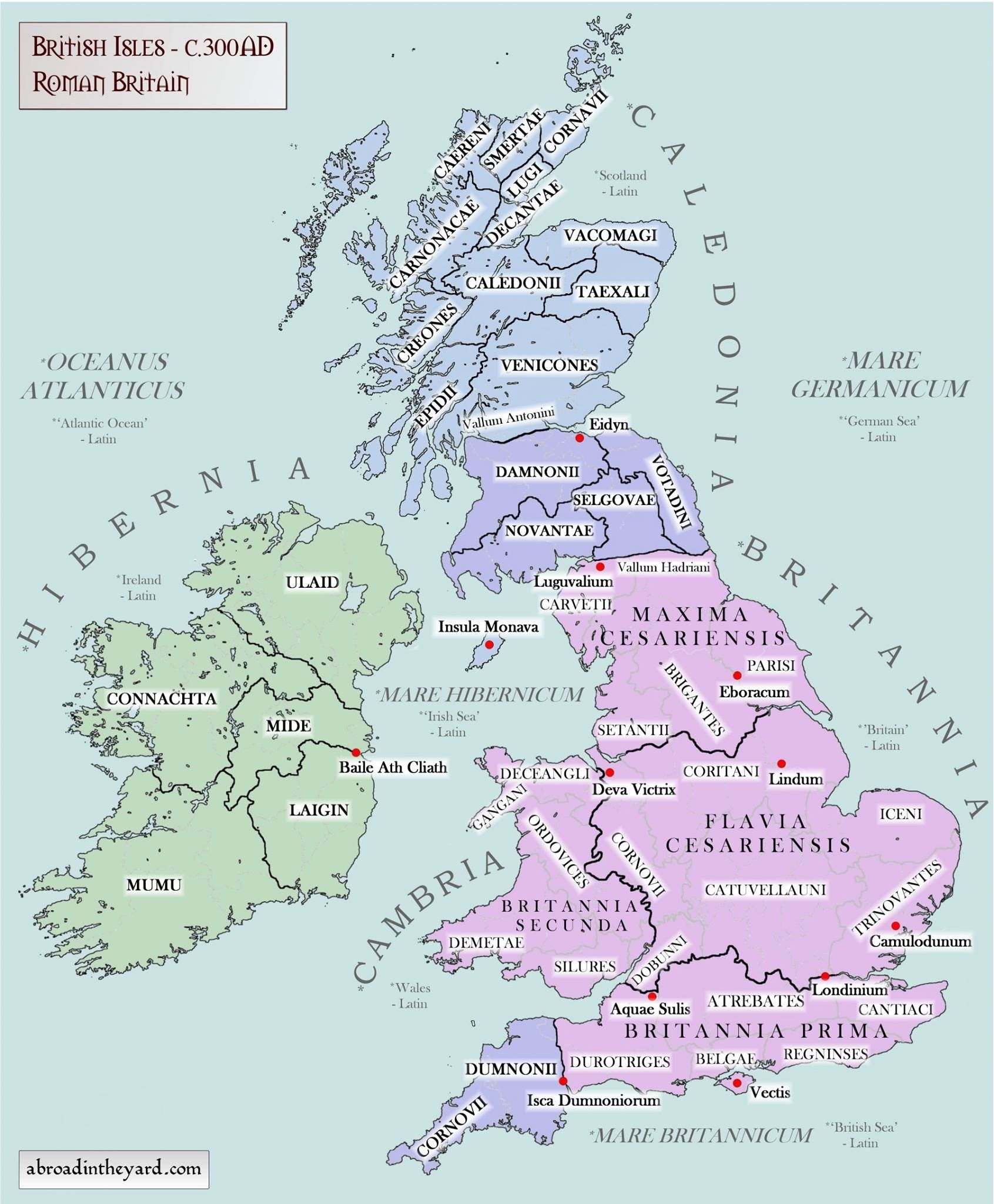 British Isles During The Roman Time Map Of Britain Roman Britain England Map
