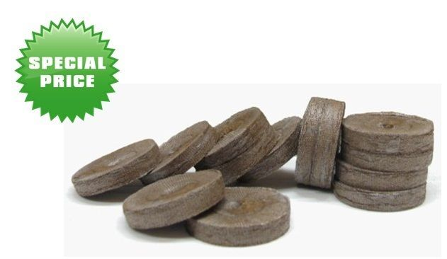 Jiffy Peat Pellets Plant Food 42mm 100 Count Garden Resealable Bag Comfort Tree #RootNaturally