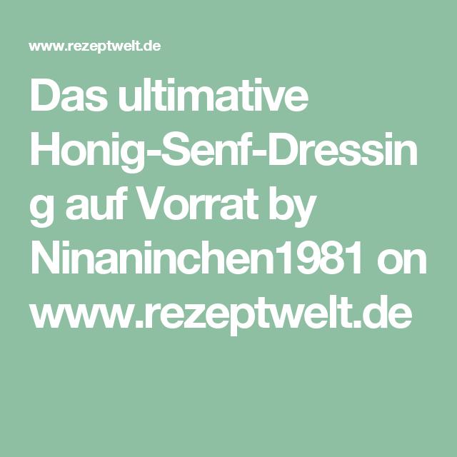 Honig-Senf-Dressing auf Vorrat
