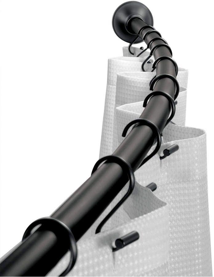 Interdesign Curved Matte Black Shower Curtain Rod 41 72 Bedding
