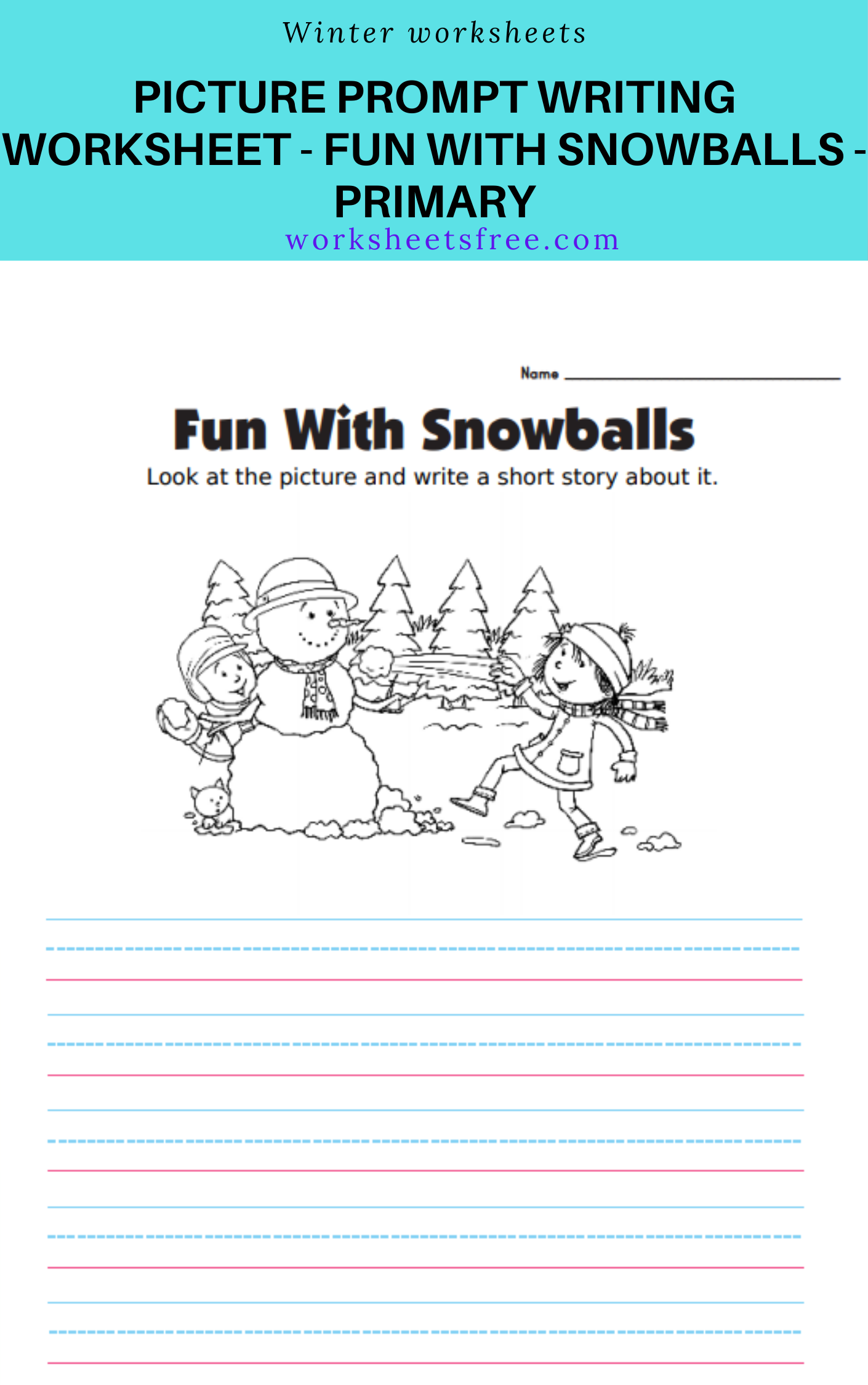Picture Prompt Writing Worksheet