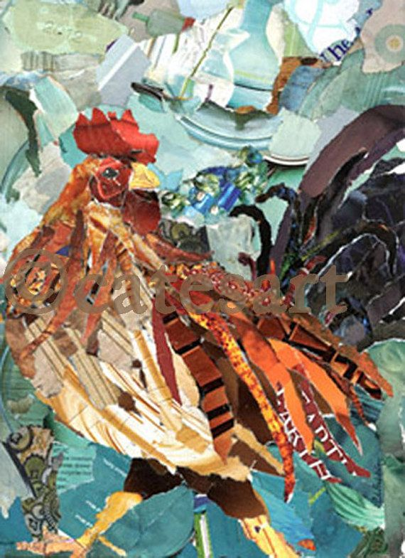 torn paper collage artists