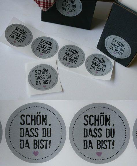Aufkleber Hochzeit / wedding sticker