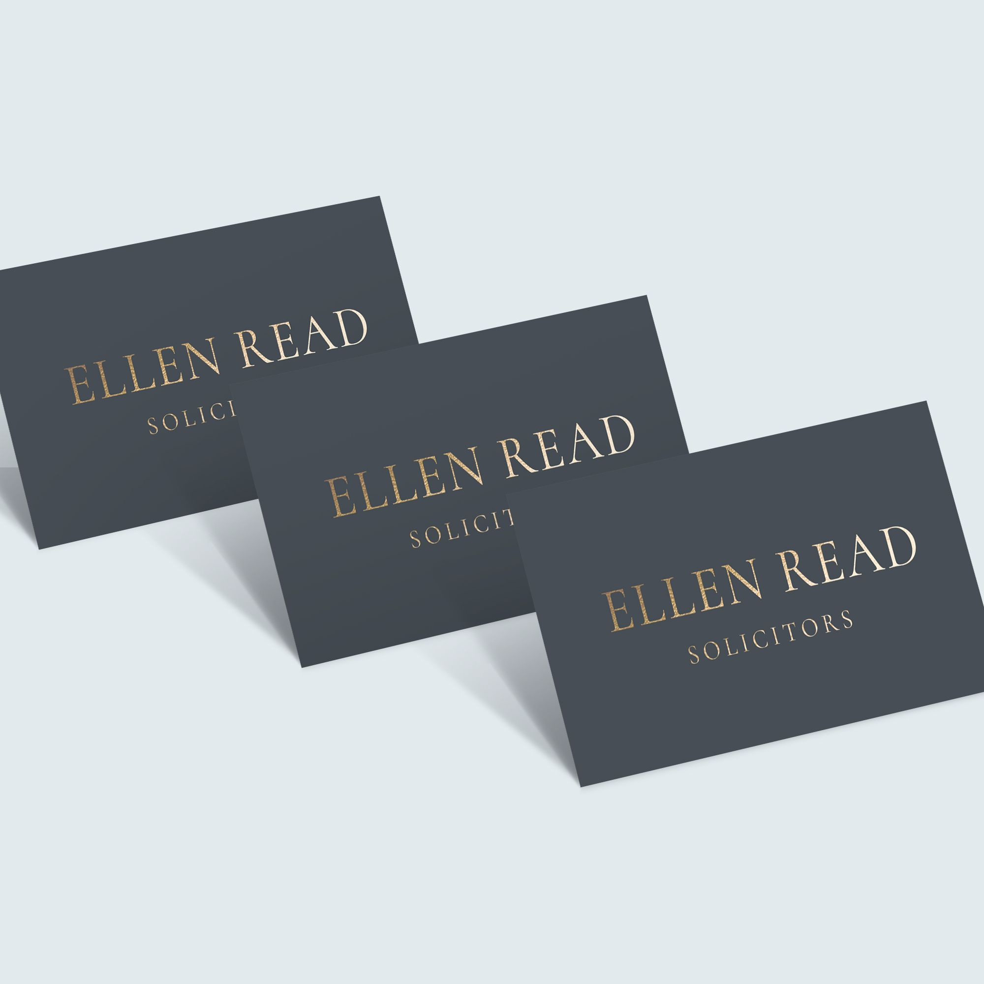 Gold Foil Business Card, Slate Grey Business Card, Luxury Business ...