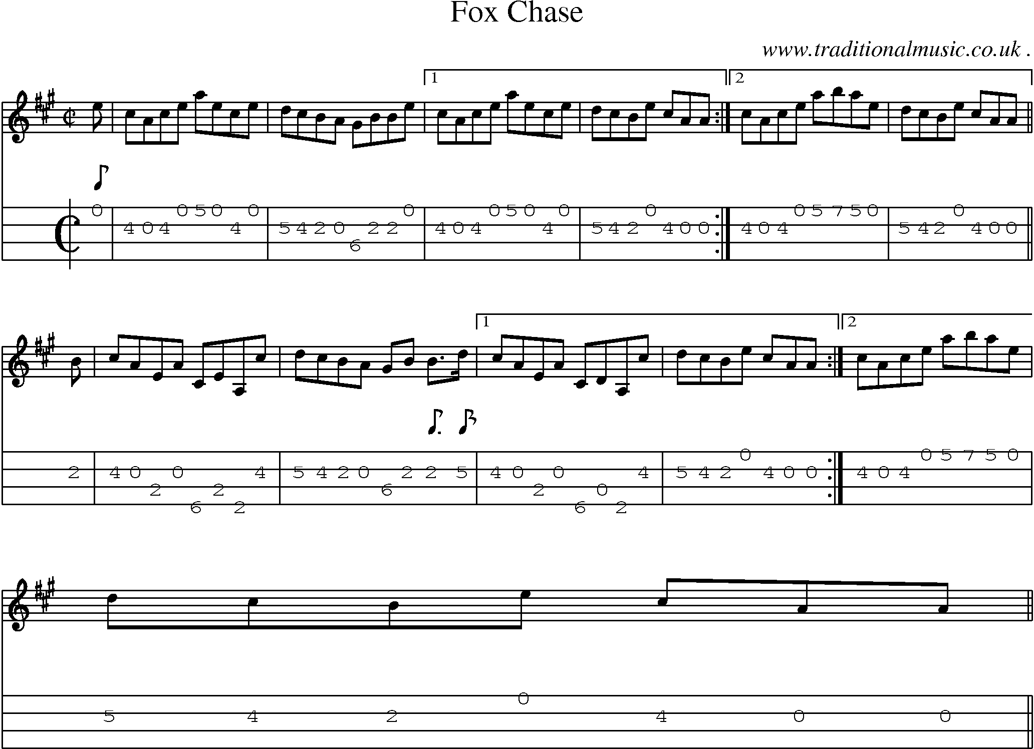 Sheet music score chords and mandolin tabs for fox chase sheet music score chords and mandolin tabs for fox chase hexwebz Choice Image