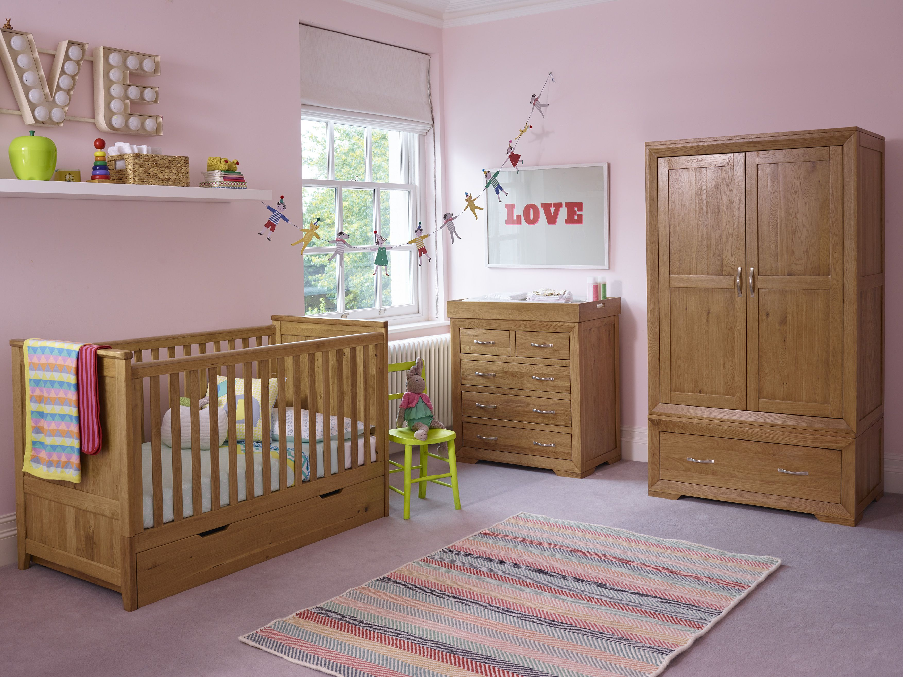 Transform Your Baby S Nursery To A Child S Bedroom With Our Versatile Transitioning Furniture From Oak Fur Nursery Furniture Oak Furniture Baby Room Furniture