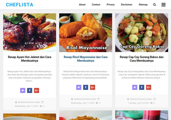 Situs Resep Masakan Yang Memiliki Informasi Terlengkap Mengenai Segala Hal Tentang Dunia Masak Memasak Resep Masakan Resep Ayam Resep