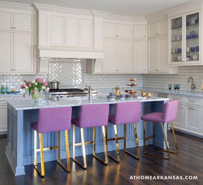 Free Spirited At Home In Arkansas Home Kitchens Contemporary Kitchen Purple Kitchen