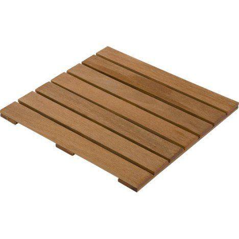 Caillebotis en bois, L50 cm x l50 cm x Ep24 mm Terrasse Pinterest