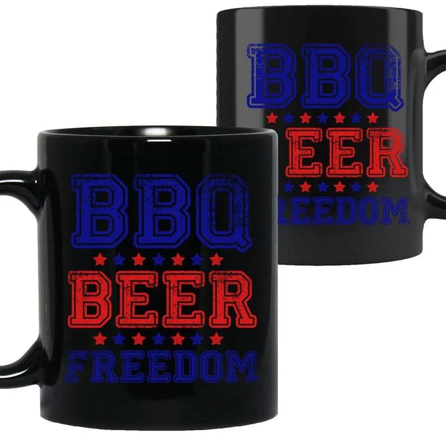 Bbq Beer Freedom America Ceramic Coffee Mug Coffee Mugs Mugs Beer