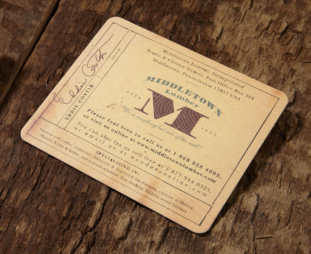 Middletown lumber thick business card south africa pinterest business reheart Images