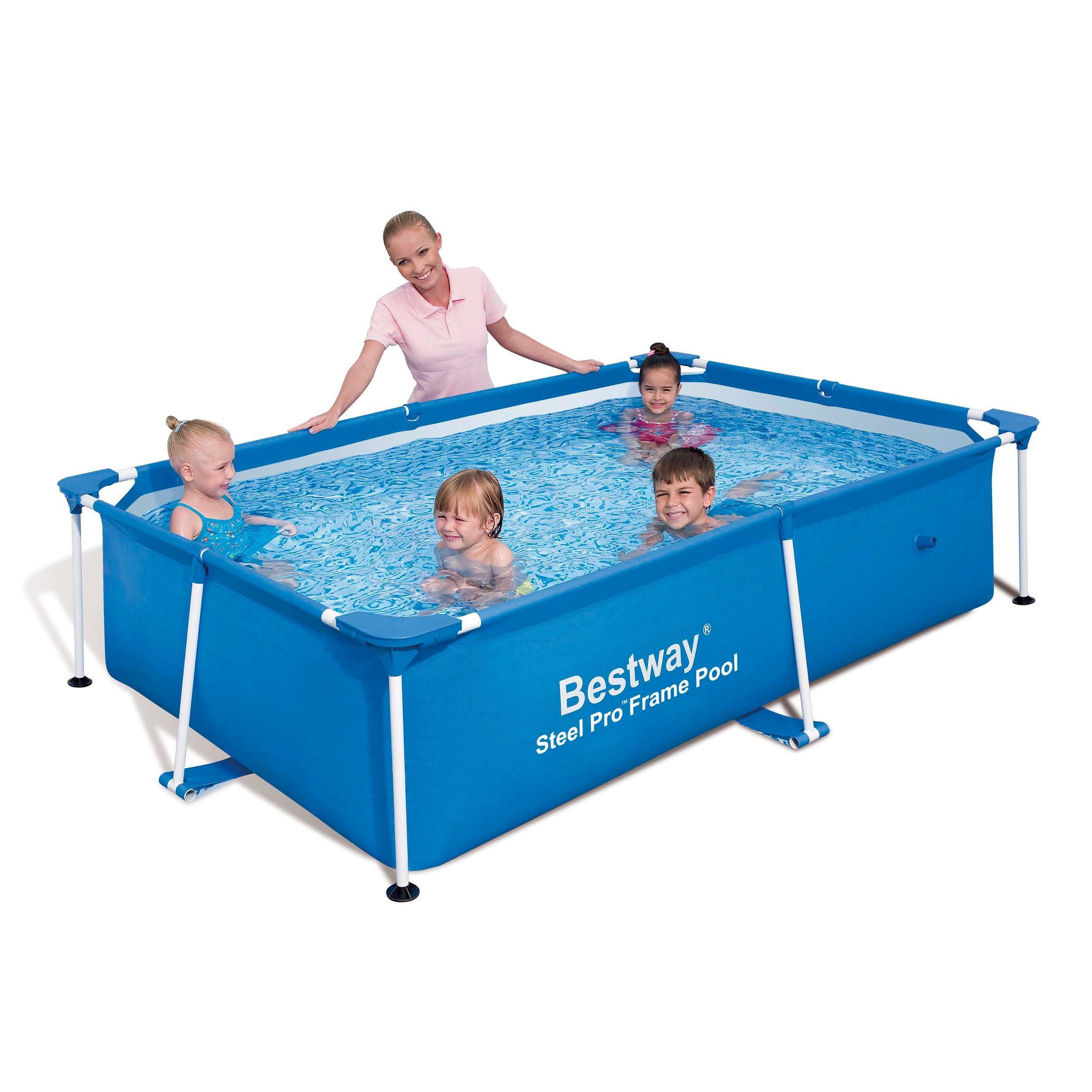 Intex Zwembad 2.60 X 1.60 Bestway Rectangular Deluxe Splash Frame Pool Products Children
