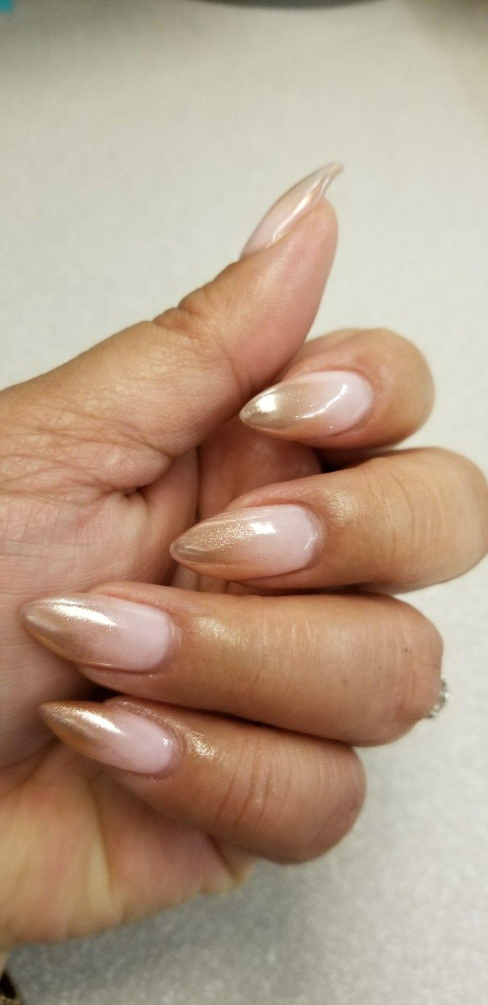 rose gold ombre nails beauty pinterest. Black Bedroom Furniture Sets. Home Design Ideas