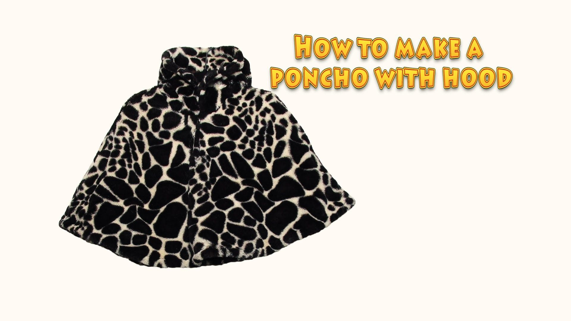 How to make a poncho with hood - DIY sewing project - #26