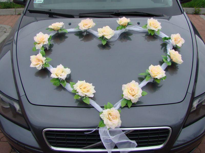 Details Zu Organza Herz Auto Schmuck Braut Paar Rose Deko Dekoration