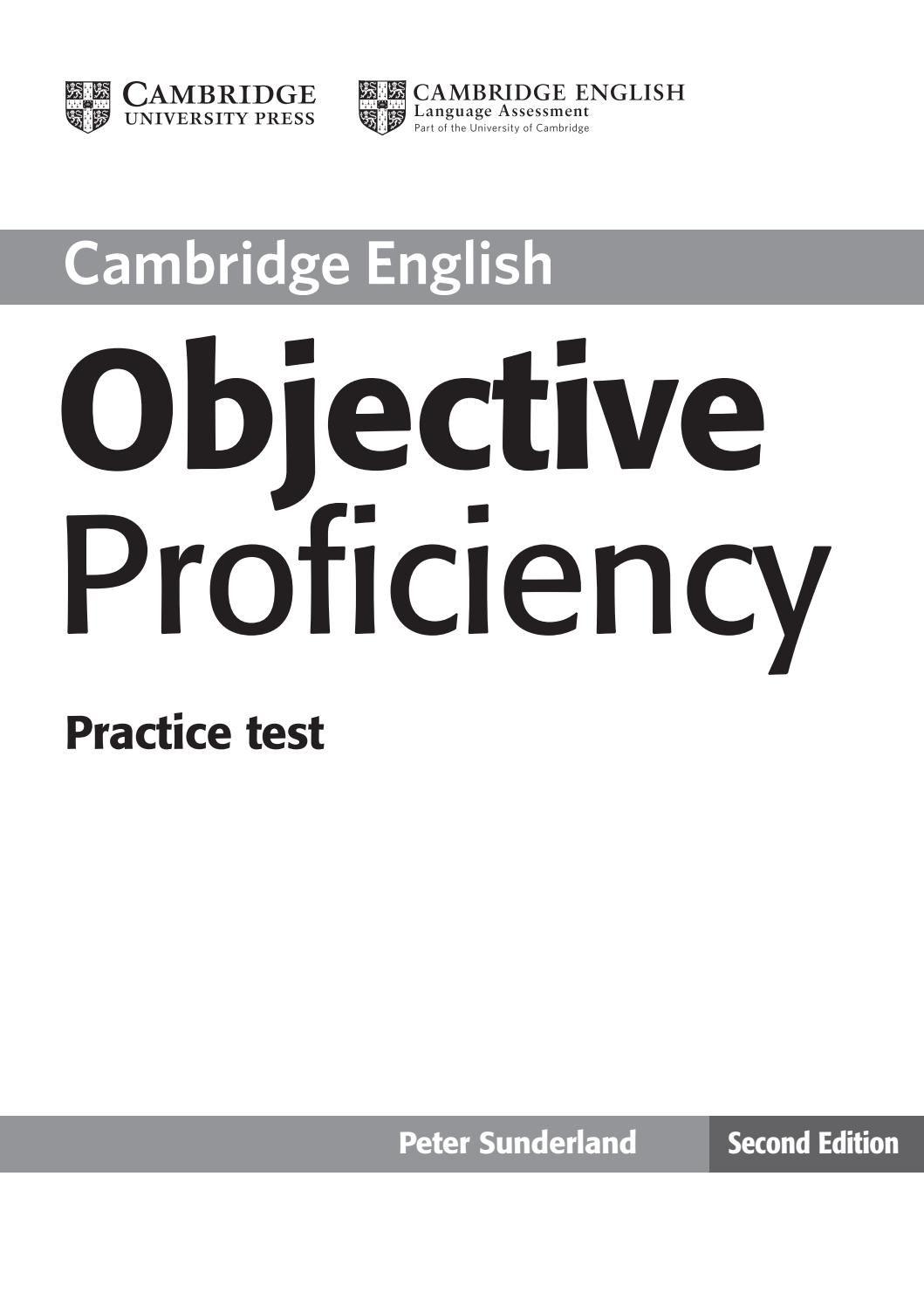 Objective proficiency practice test   English Proficiency Exams