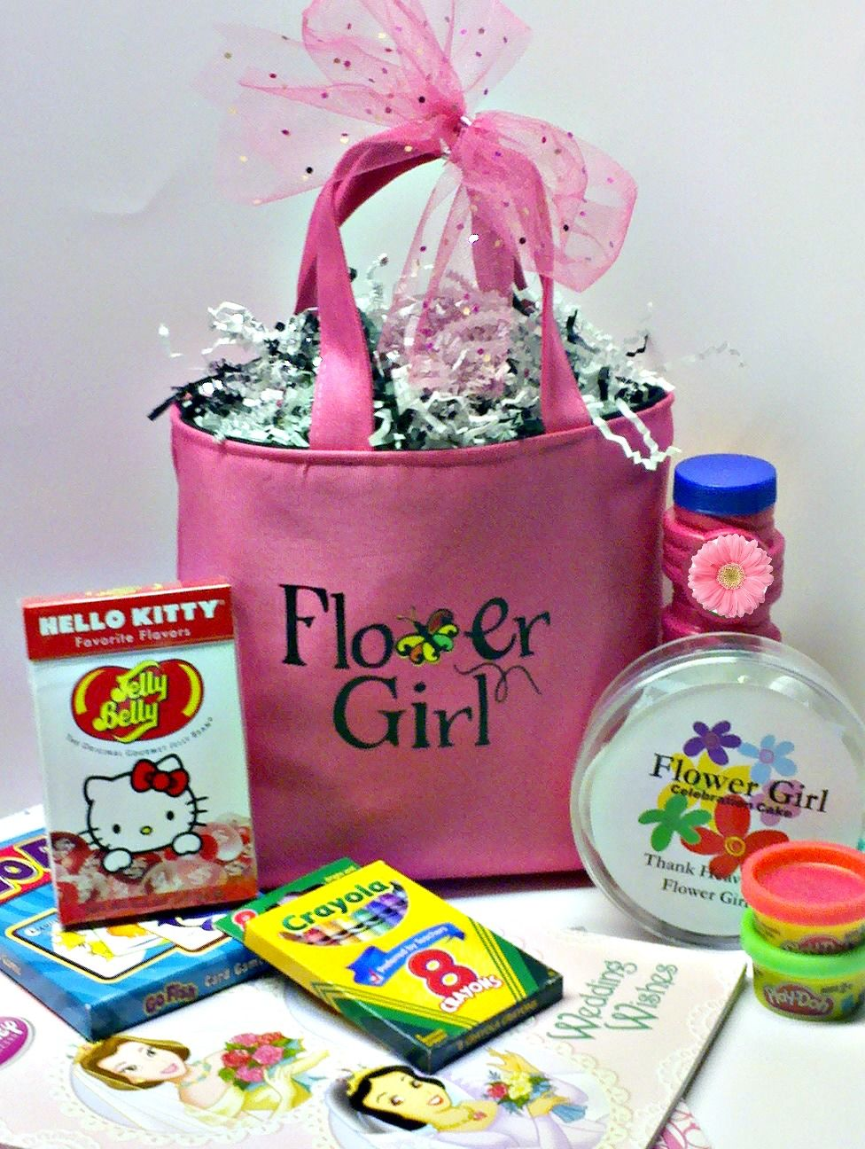 Fun and fab Flower Girl Tote Set for the Younger Flower Girl ...