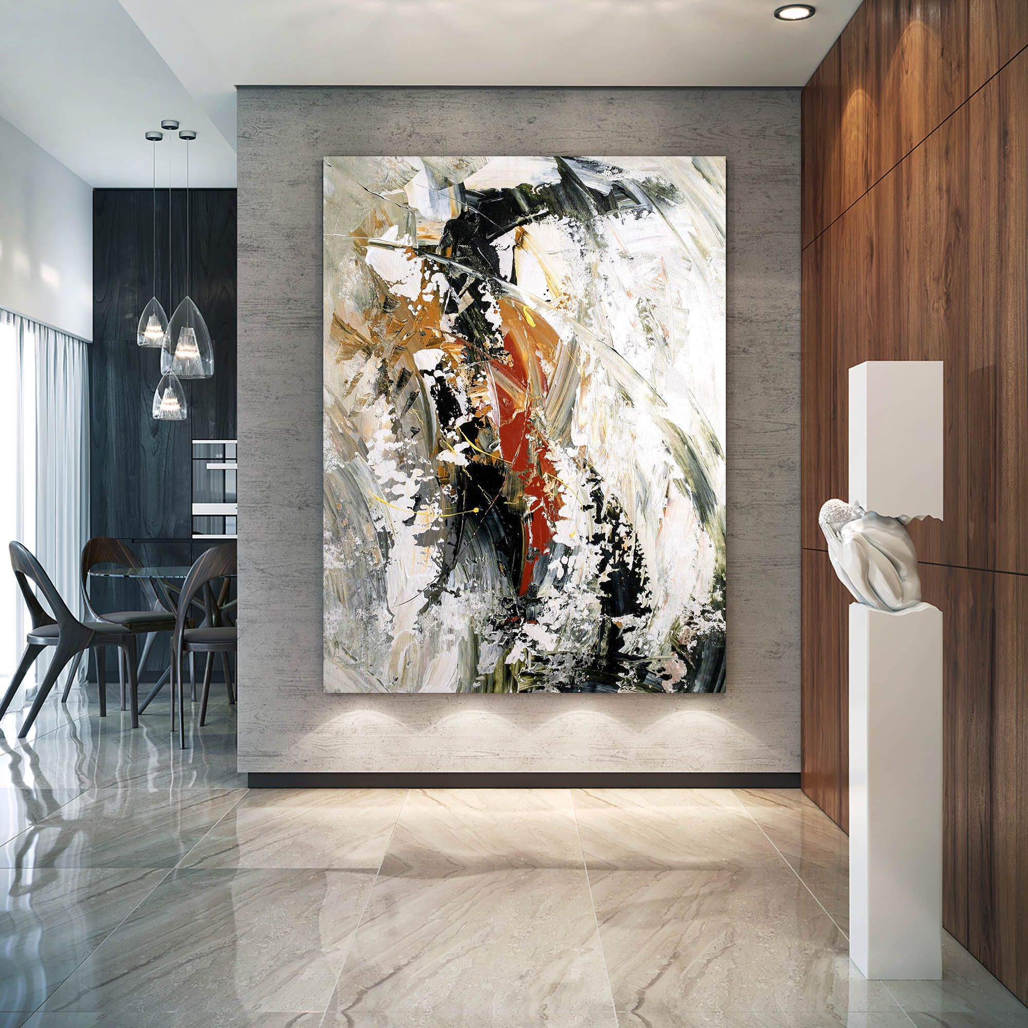 Large Abstract Paintingmodern Abstract Paintingpainting For Etsy Modern Abstract Painting Abstract Canvas Art Modern Canvas Painting