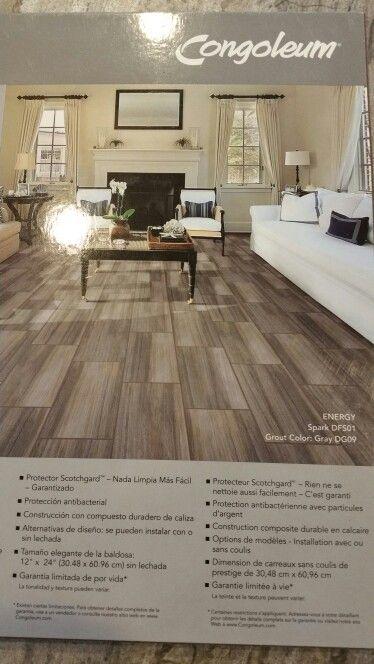 Duraceramic Spark Plank Floor Kitchen Makeover New Homes Plank Flooring