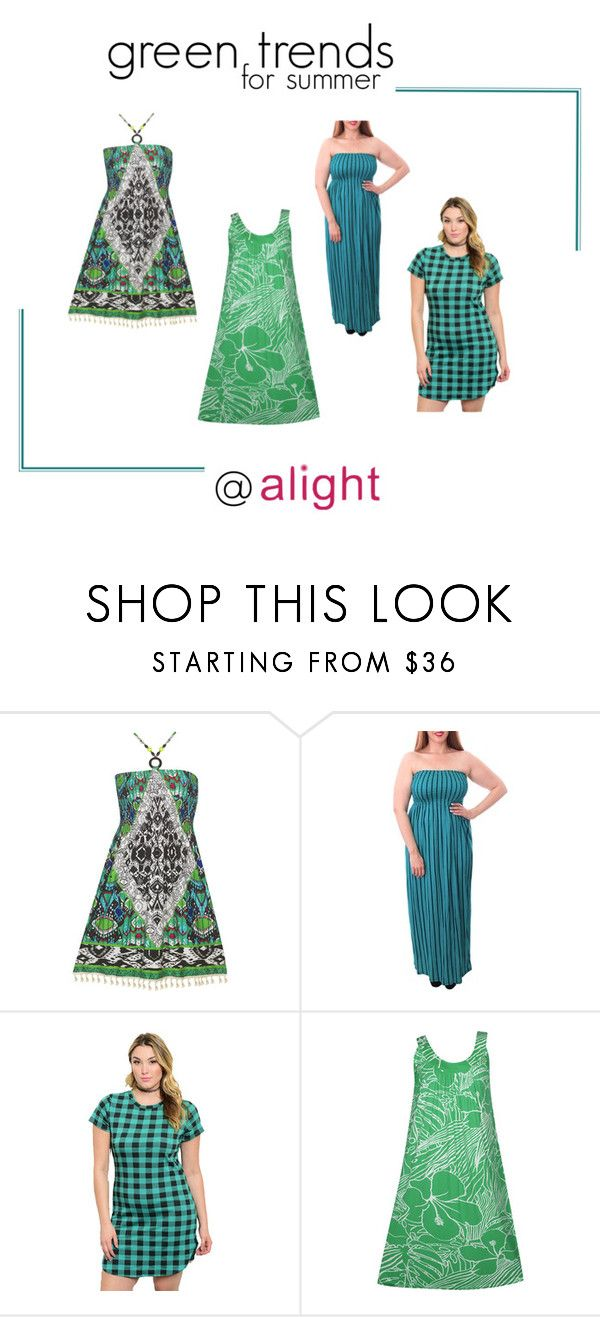 plus size green styles for summer by alight-com on Polyvore  #alight #plussize #plussizefashion #plussizeclothing #summer #summer2016 #green