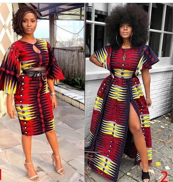 Brown skin Ankara dresses, Beyonce African clothing for women, Ankara party dress,African fashion wax, kente wedding dress