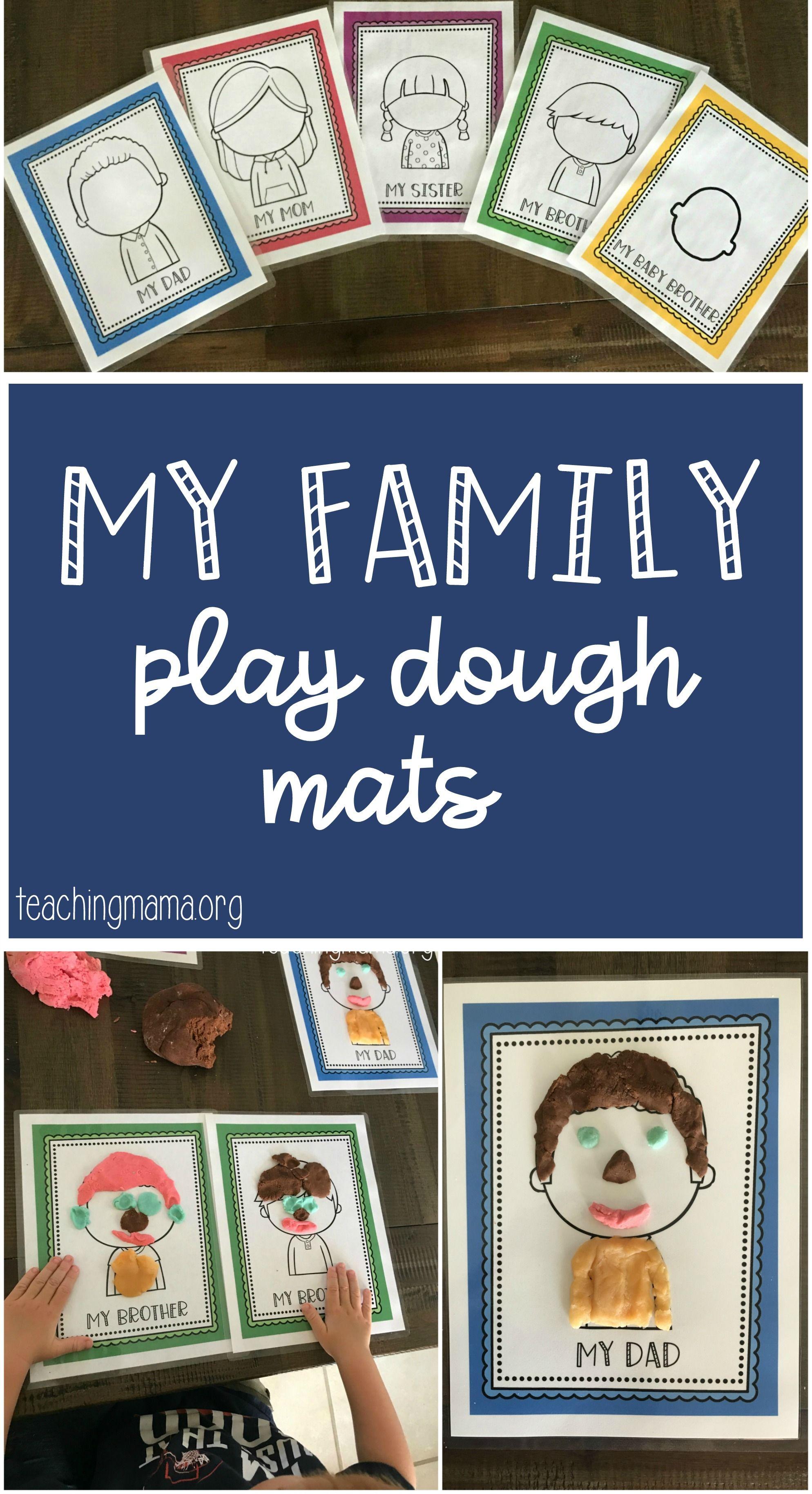 Family Play Dough Mats
