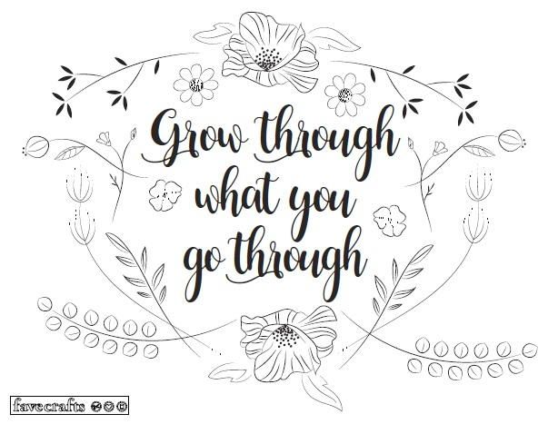 Grow Like Flowers Adult Coloring Page Coloring Pages