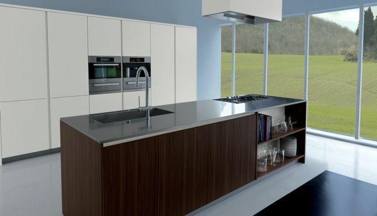 Kochinsel Herd Spüle ~ diese moderne kochinsel von schiffini besitzt einen gasherd, sowie eine spüle küchen