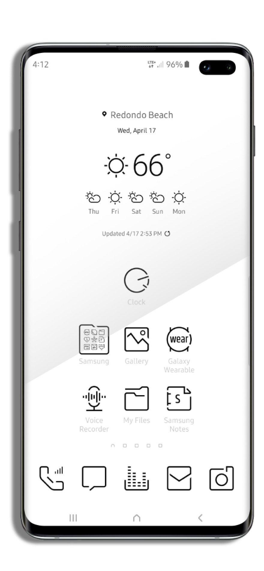 X9 Minimal White Samsung Mobile Phone Theme Samsung Galaxy Phones Phone Themes Themes For Mobile