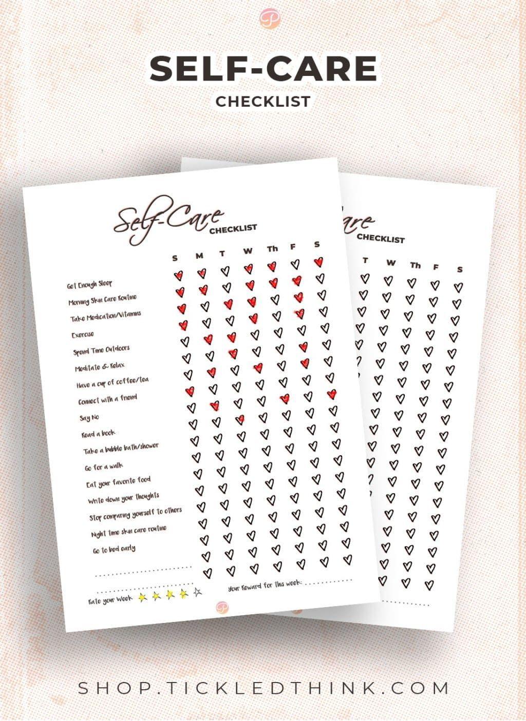 Self Care Printable Planner Planner