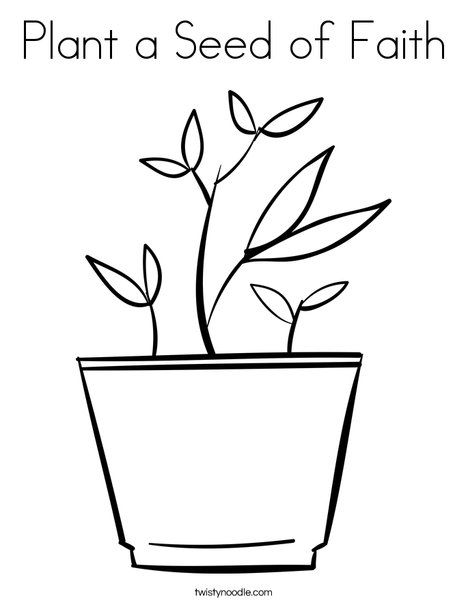 Plant A Seed Of Faith Coloring Page Twisty Noodle Planting