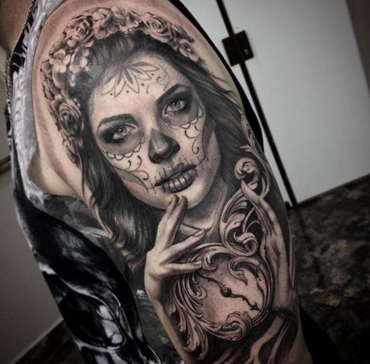 Pingl par jesus sur catrina pinterest tatouages tatouage femme mexicaine et tatouages femme - Tatouage gitane signification ...