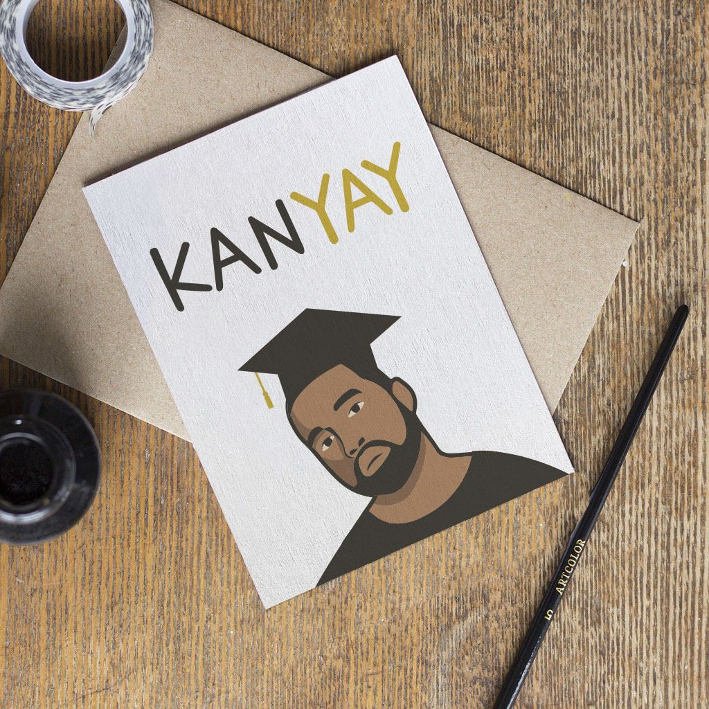 Kanye West Graduation Card Congratulations Yeezus