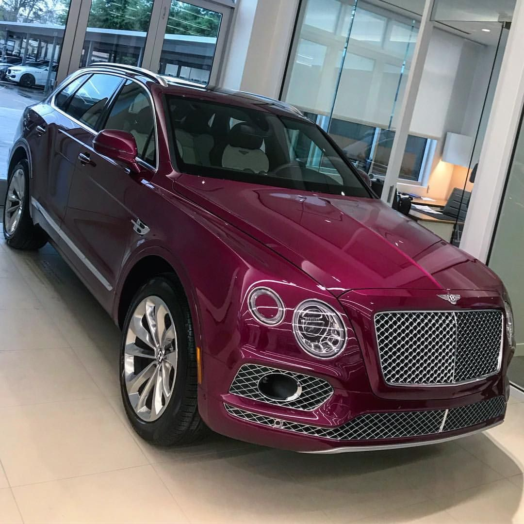 Purple Bentley Bentayga Bentley Suv Fancy Cars Bentley Truck