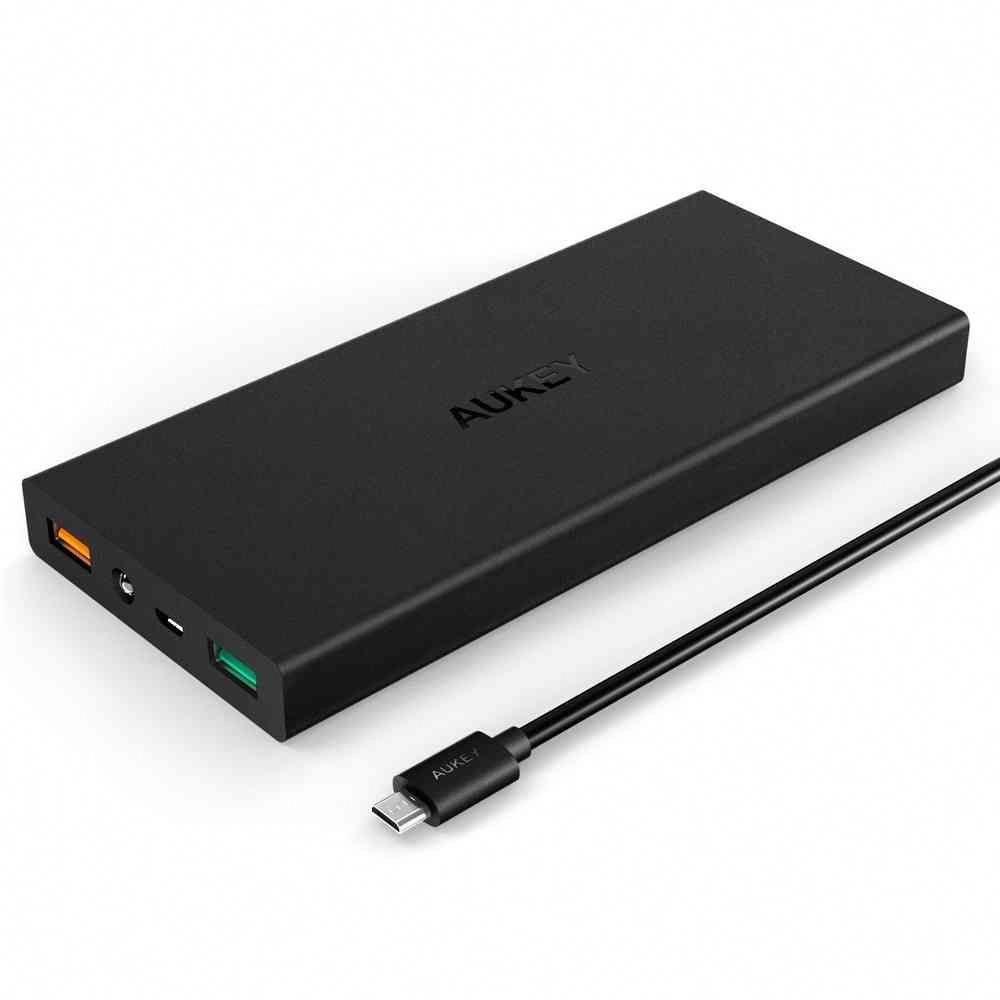 Aukey 16000mah Quick Charge 3 0 Power Bank Portable Battery Powerbank Battery Bank Diy Car Battery