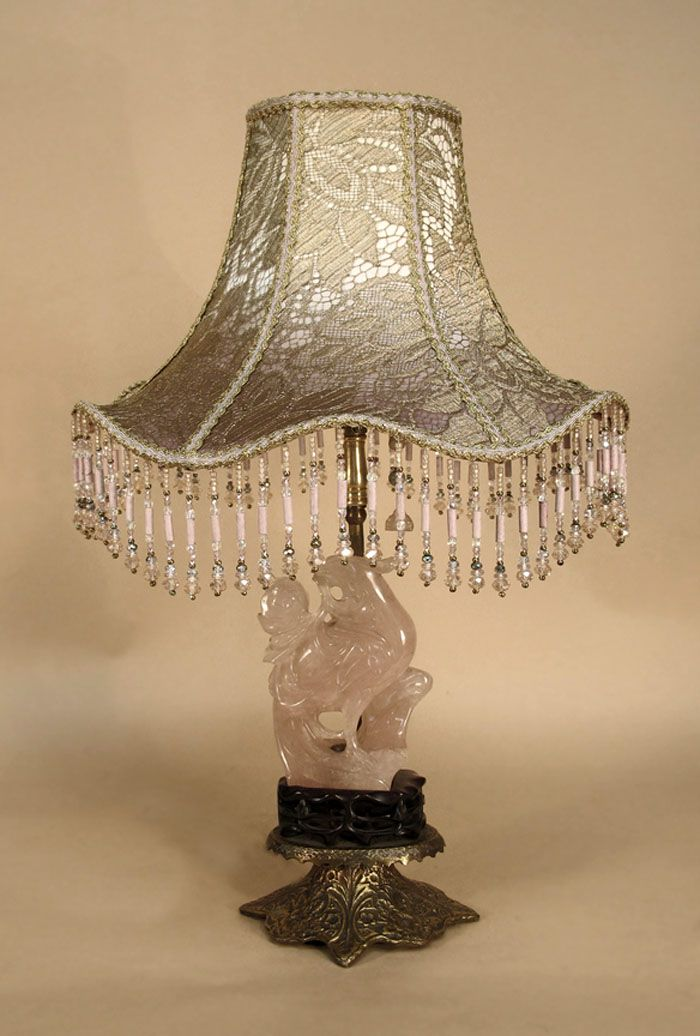 Bon Antique Table Lamp With Victorian Lamp Shade