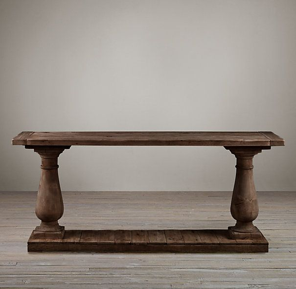 Restoration Hardware Balustrade Salvaged Wood Console Table we got