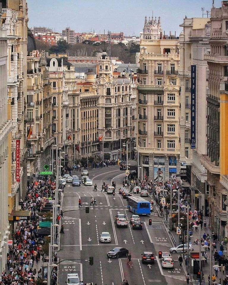 La Gran Via Madrid Spain Spain Tour World Beautiful City Travel Around The World