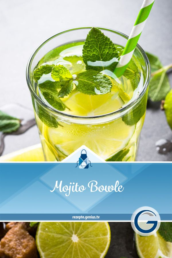 Photo of Mojito Bowle • Genius recipe world