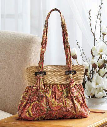 Boho Printed Handbags...you could diy