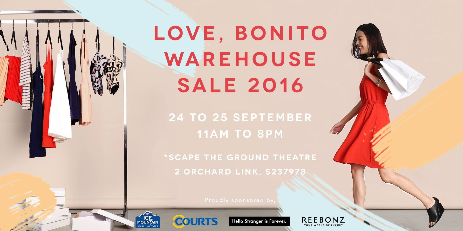 Love, Bonito Singapore Warehouse Sale Up to 90% Off