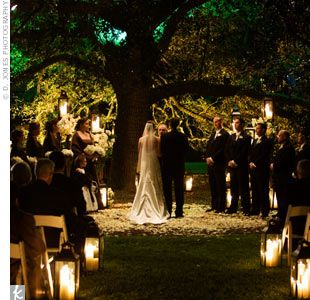 I love this look for a ceremony. Simple, elegant, and very natural looking...gorgeous!!