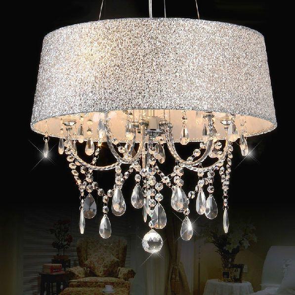 Ceiling Fan Pendant Light: Modern Crystal Ceiling Light Pendant Lamp Fixture Lighting