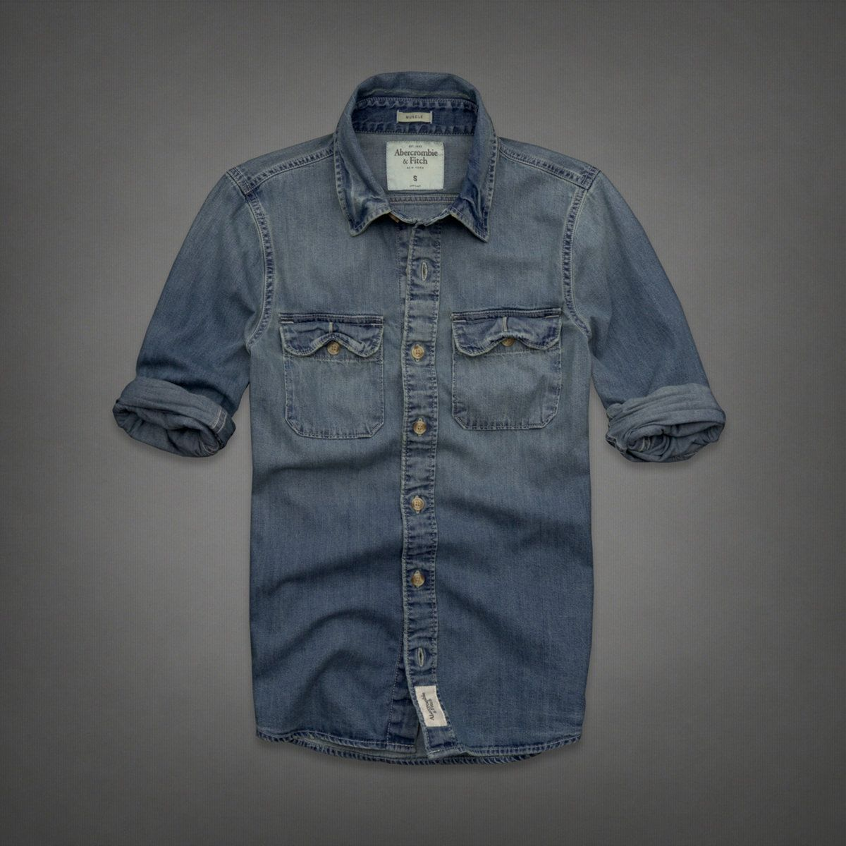 4042d595 Mens Flagstaff Mountain Denim Shirt | Mens Shirts | Abercrombie.com ...