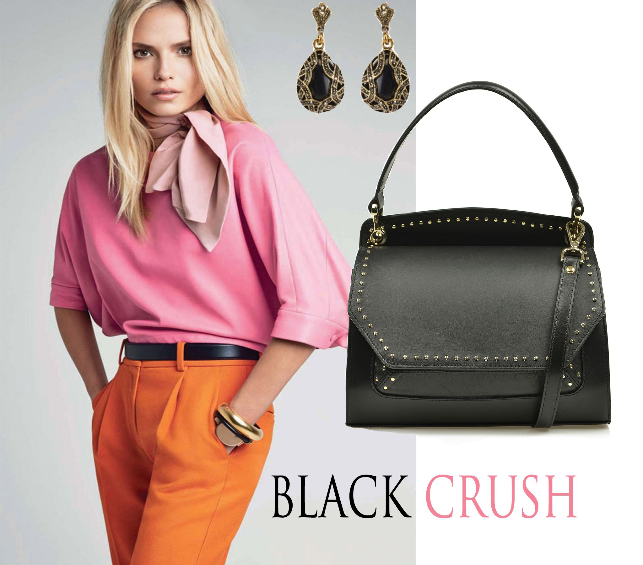 Black luxury accessories can delicately complement your colorful outfit by creating a wonderful contrast which makes you glow with a refined style and beauty. Pair leather bags colored in an elegant black with silky blouses or vibrant dresses to get a fresh look.